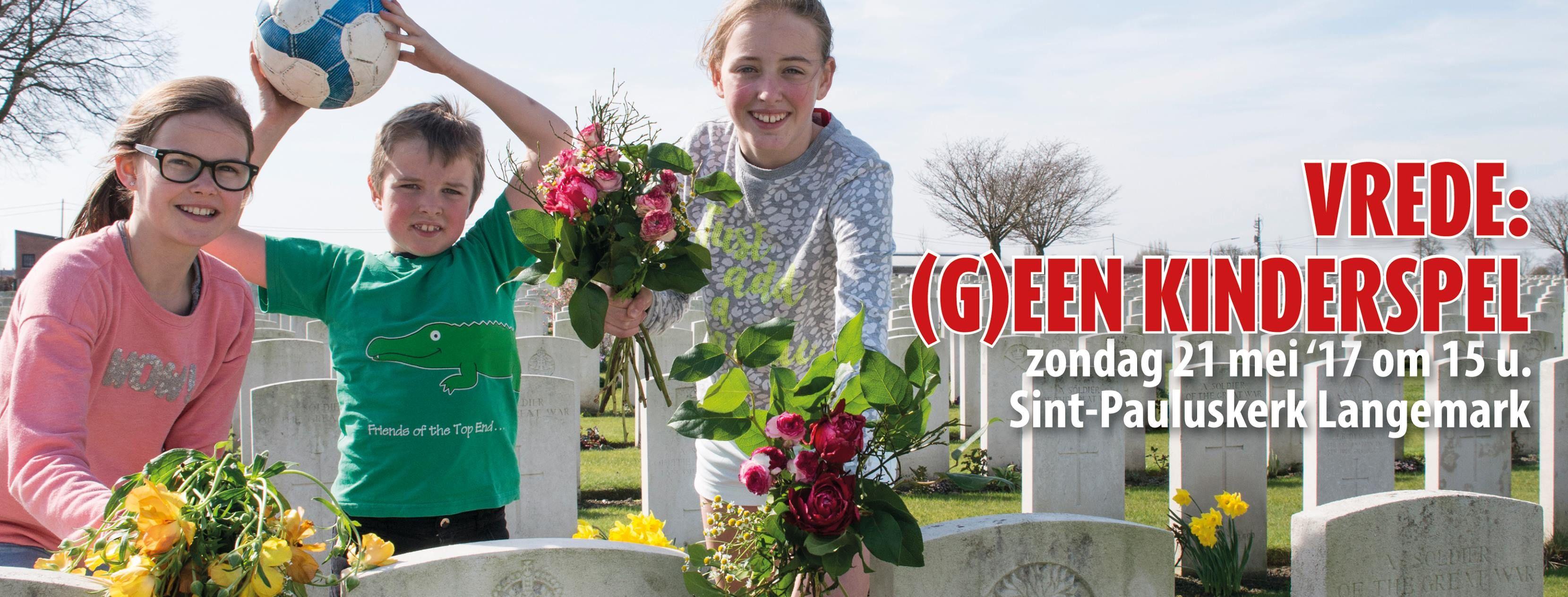 Vredeswake Langemark - Vrede:(g)een kinderspel